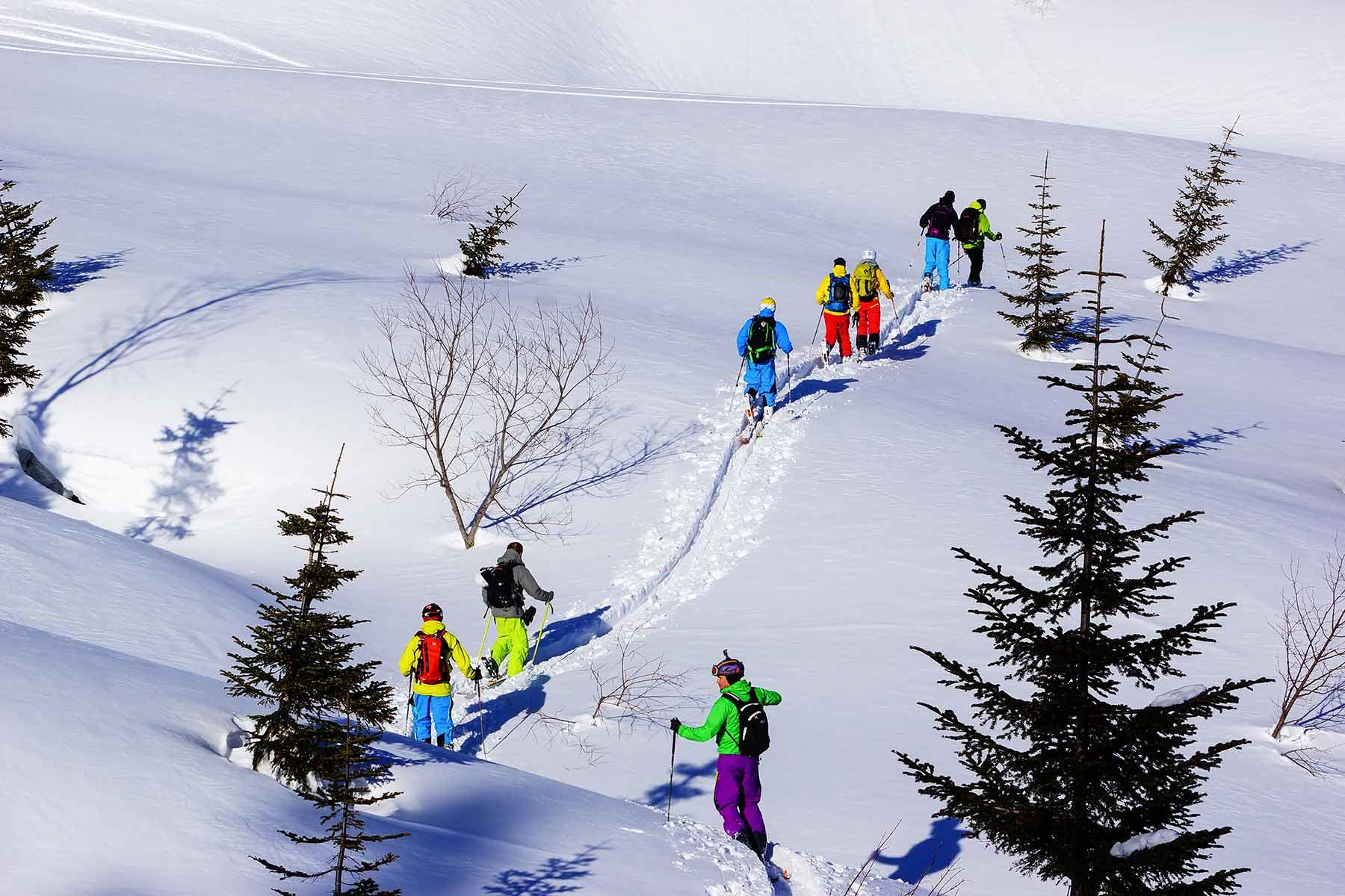 ski touring in hakuba